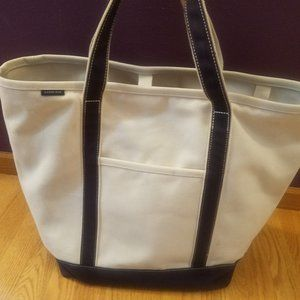 Lands End Boat and Tote XL Beach Boat Bag Blue